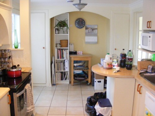 Kitchen - this has been tidier...