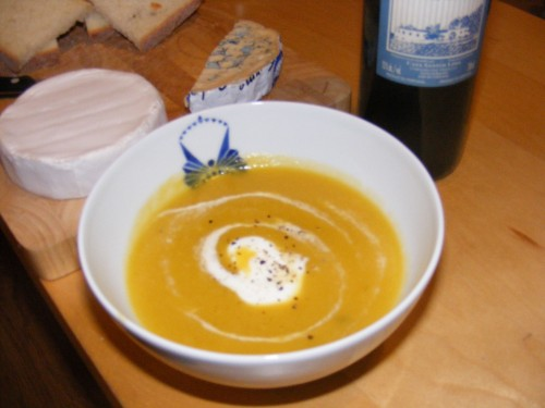 Butternut Squash Soup. And Wine...